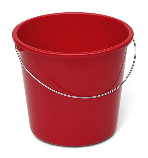 Nölle - Haushaltseimer 10 Liter Kunststoff rot mit Metallbügel