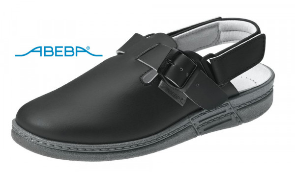 ABEBA Original 7209 Berufsschuh Clog schwarz
