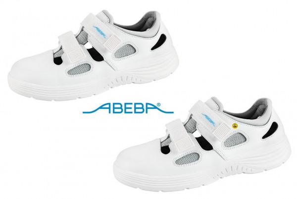 ABEBA X-Light 711031|7131031 ESD Sicherheitsschuh S1 Sandale Stahlkappe Küchenschuh Arbeitsschuh weiß