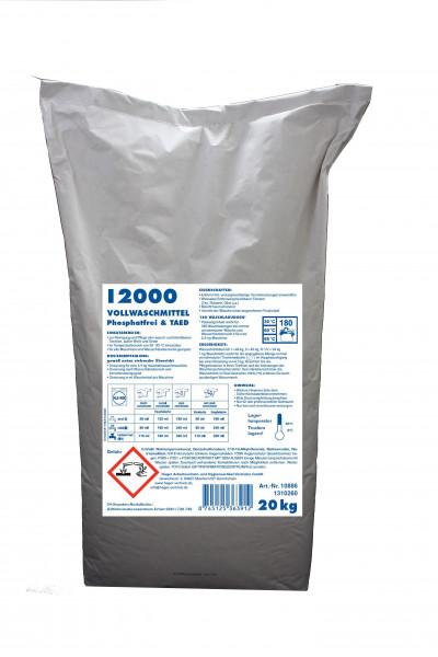 I2000 Vollwaschmittel Premiumqualität phosphatfrei 20 Kg