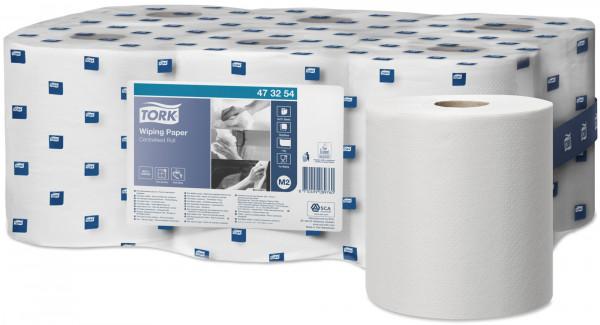 Tork (M2) Mehrzweck Papierwischtücher Handtuchrolle 1-lagig, weiß, 6 Rollen - 473254