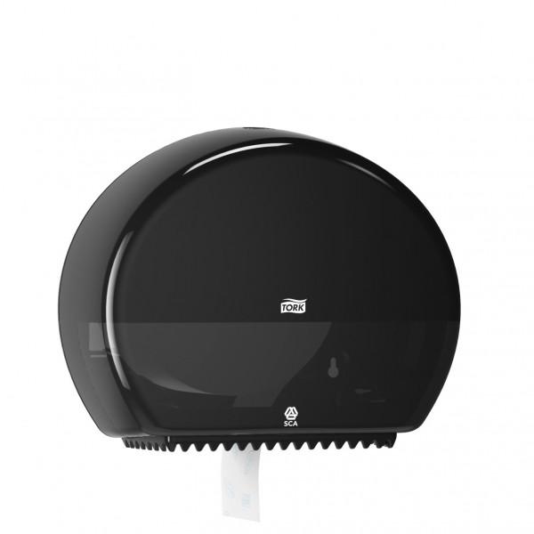 Tork (T2) Toilettenpapierspender WC-Papier Spender Mini Jumborollenspender schwarz - 555008