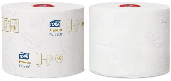 Tork (T6) Toilettenpapier WC-Papier Midi Rolle 3-lagig, weiß, 27 Rollen - 127510