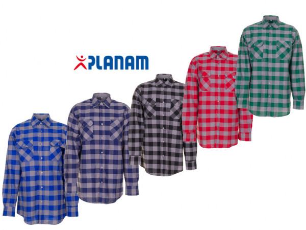 Planam Squarehemd 1/1 langarm Arbeitshemd Größe 37/38 - 49/50, in 5 Farben