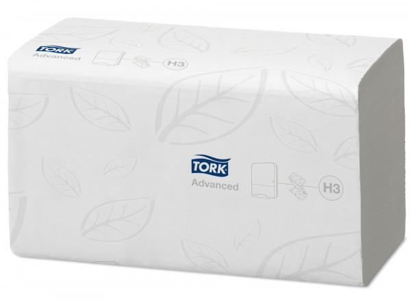 Tork (H3) Z-Falz schnellauflösendes Handtuchpapier, 3750 Blatt, 2-lg, 23 x 23 cm, weiß - 290190