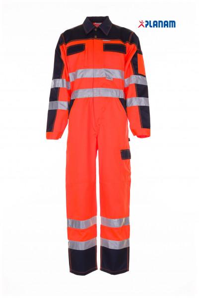 Planam Warnschutz Rallyekombi Overall orange-marine 2036
