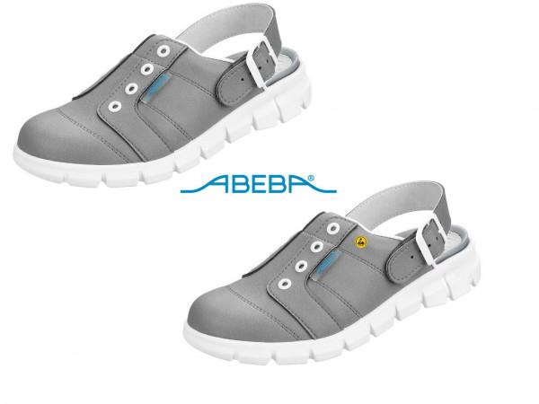 ABEBA Berufsschuh Clog grau/weiß Dynamic 7366 | 37366 ESD