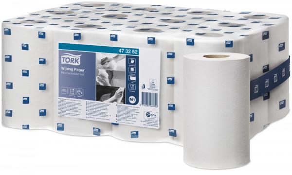 Tork (M1) Mini Mehrzweck-Papierwischtücher Handtuchrolle 1-lagig, weiß, 12 Rollen - 473252