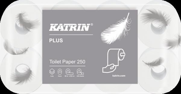 Katrin Toilettenpapier Plus Toilet 250 3-lagig 48 Rollen - 104872