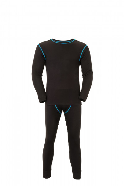 Planam Funktionswäsche Set 180 Shirt + Hose lang 180g/m² Unterwäsche Winter 2215 schwarz
