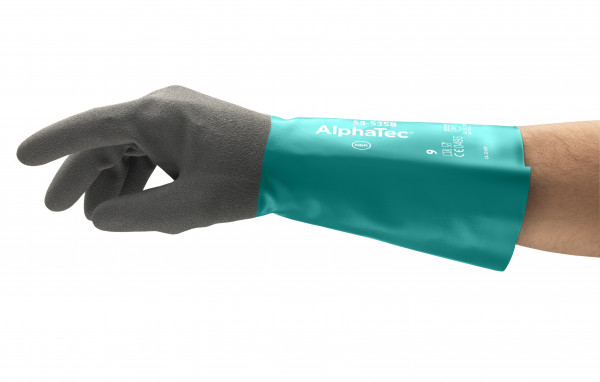Ansell - Handschuh AlphaTec 58-535B - schwarzes Acrylfutter