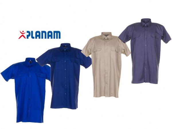 Planam Köperhemd 1/4 kurzarm Arbeitshemd Größe 37/38 - 49/50, in 4 Farben