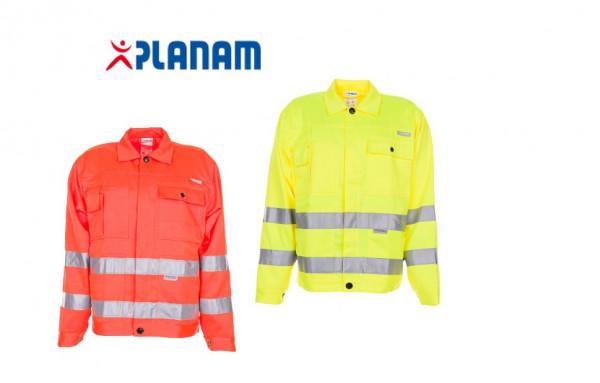 Planam Warnschutz Bundjacke Arbeitsjacke Größe 24 - 110, in 2 Farben
