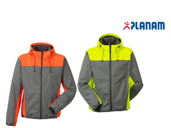 Planam Outdoor Kontrast Softshelljacke Gr. XS - 4XL, in 2 Farben