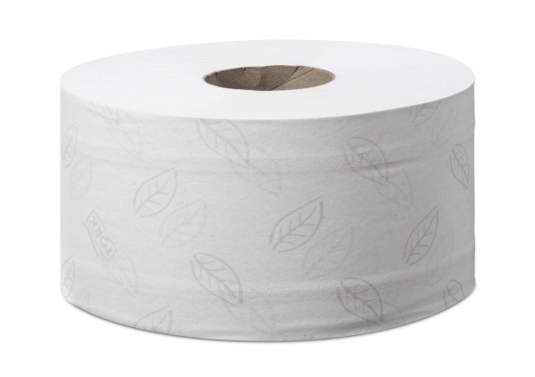 Tork (T2) Mini Jumbo Toilettenpapier 12 Rollen 2-lg natur 180m - 472102