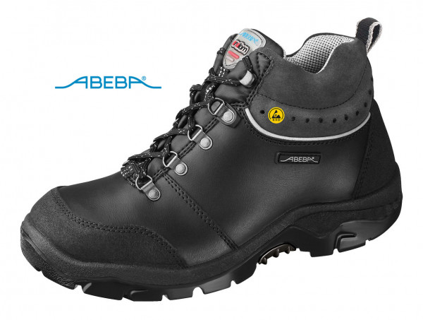 ABEBA Anatom 2268|32268 Sicherheitsschuh S3 ESD Knöchelschuh Stiefel Arbeitsstiefel schwarz
