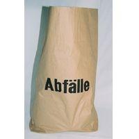 Müllbeutel - 120 Liter Papier braun (Aufdruck Abfälle)
