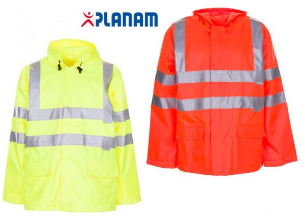 Planam Warnschutz Regenjacke/Windjacke Größe S - XXXL in 2 Farben