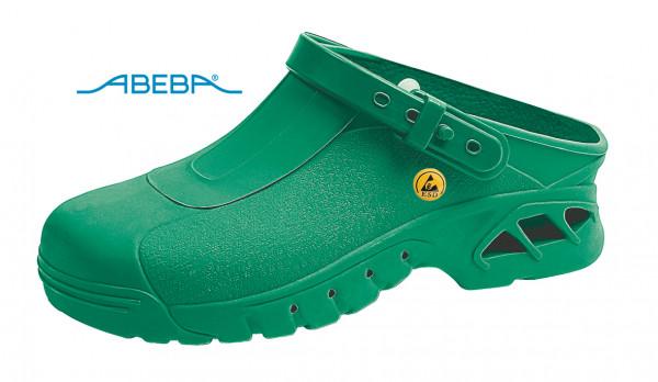 ABEBA Autoklavierbare Clog 9620|39620 ESD Clogs Berufsschuh Arbeitsschuh grün
