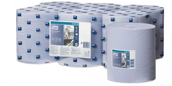 Tork (M2) Mehrzweck Papierwischtücher Handtuchrolle 1-lagig, blau, 6 Rollen - 128208