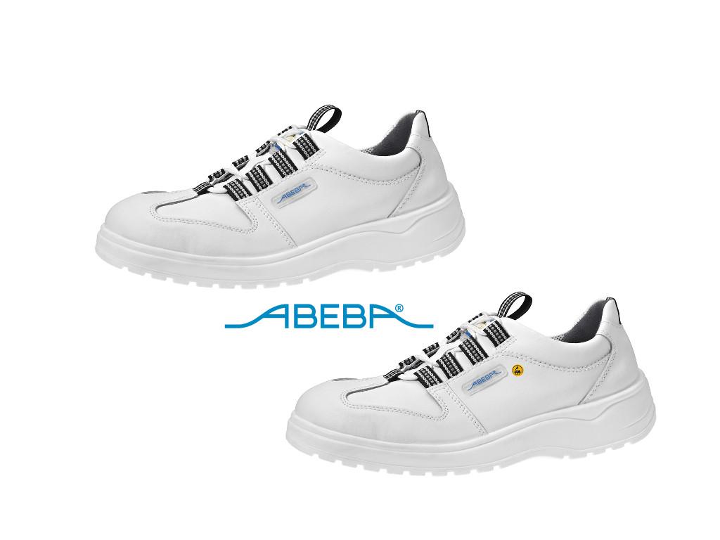 ABEBA Light 1033 31033 ESD Sicherheitsschuh S2 Halbschuh Küchenschuh Arbeitsschuh weiß