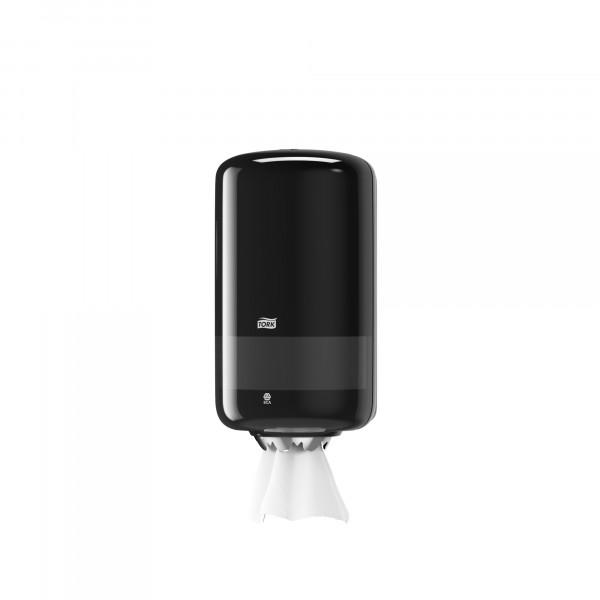 Tork (M1) Mini Innenabrollungsspender für Papierwischtücher Handtuchrolle schwarz - 558008