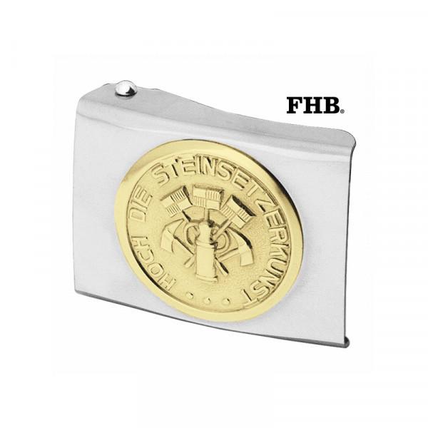 FHB Jobst Koppelschloss Arbeitsgürtel Gürtel Koppel -Steinsetzer- 87031 Silber