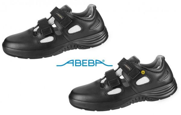 ABEBA X-Light 711036|7131036 ESD Sicherheitsschuh S1 Sandale Stahlkappe Küchenschuh Arbeitsschuh schwarz