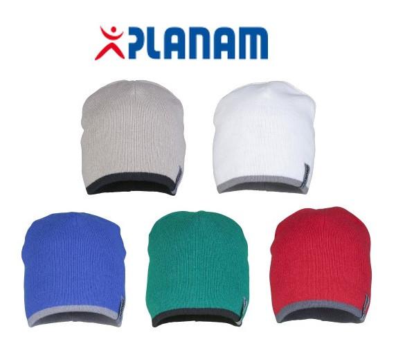 Planam 2-farbige Strickmütze - Wintermütze, Wendemütze Einheitsgröße, in 5 Farben