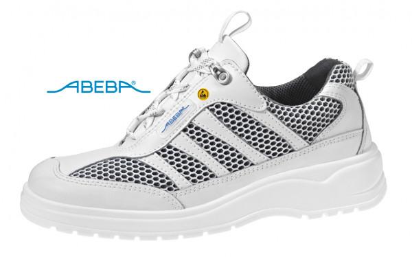 ABEBA Light 1058|31058 ESD Sicherheitsschuh S1 Halbschuh Stahlkappe Küchenschuh Arbeitsschuh weiß