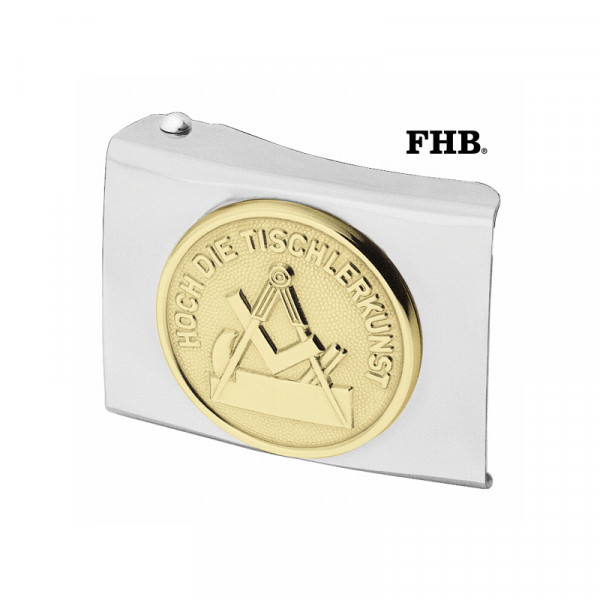 FHB Herbert Koppelschloss Arbeitsgürtel Gürtel Koppel -Tischler- 87061 Silber
