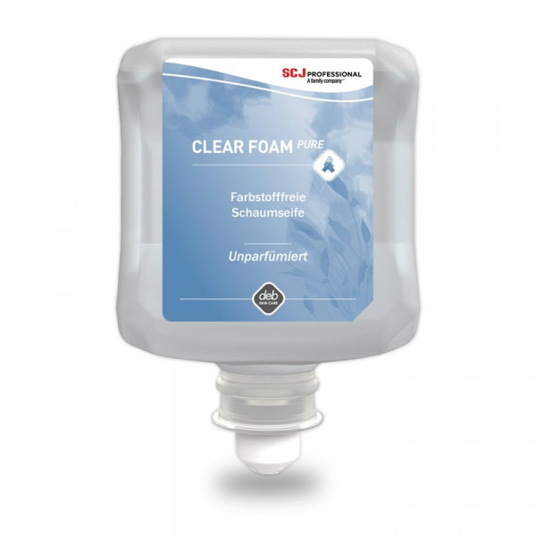 Clear FOAM Pure 1 Liter Kartusche Schaumseife (Deb Clear FOAM Wash)
