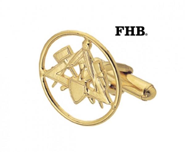 FHB Matti 90100 Manschettenknöpfe Maurer Gold