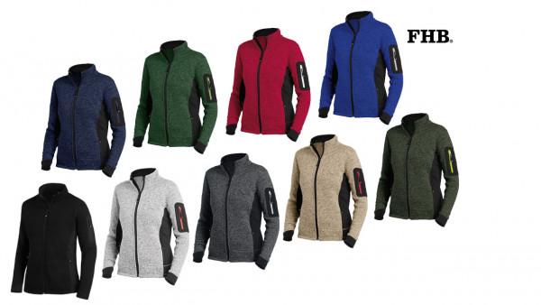 FHB Marieke Damen Strick-Fleece Jacke Gr. XS - 3XL, in 8 Farben