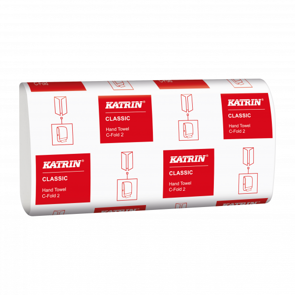 Katrin Classic C-Falz Handtuchpapier, 2-lagig,weiß, 24 x 41 cm - 343252