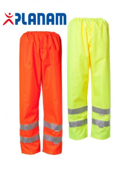 Planam Warnschutz Regenhose/Bundhose Größe S - XXXL in 2 Farben