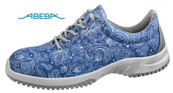 ABEBA Berufsschuh Halbschuh blau/gemustert UNI6 6724