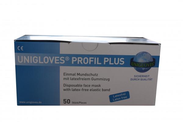 Mund-Nasen Abdeckung Mundschutz latexfrei 3-lagig blau 50 Stück