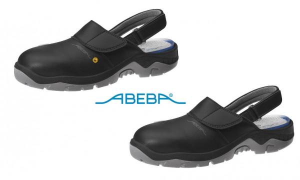 ABEBA Anatom 2125|32125 Sicherheitsschuh SB ESD Halbschuh Küchenschuh Arbeitsschuh schwarz