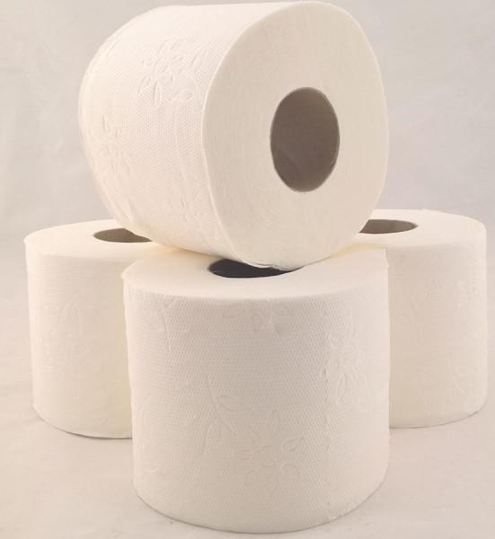 Toilettenpapier 2-lagig WC-Papier naturweiß - 64 Rollen