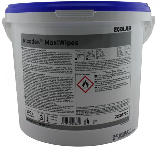 Ecolab - Alcodes Maxi Wipes Eimer/500 Tücher