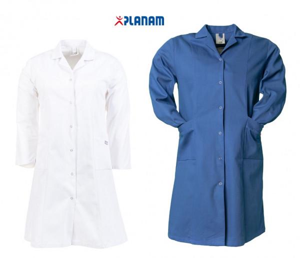 Planam Damen Berufsmantel Baumwolle 1/1 Arm Größe 34 - 54, in 2 Farben