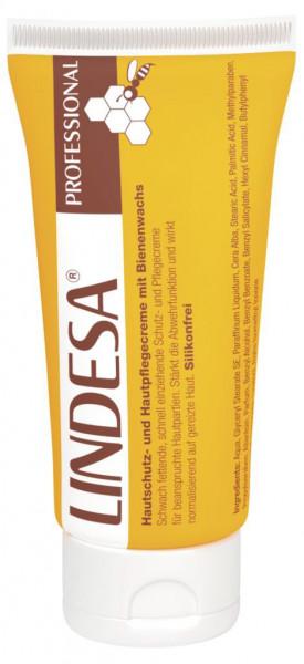 LINDESA® Professional Hautschutzceme Pflegecreme Handcreme mit Bienenwachs 50ml Tube