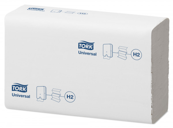 Tork Xpress® (H2) Universal Multifold Handtuchpapier, 5000 Blatt, 1-lg, 21 x 23,5 cm, weiß - 471093