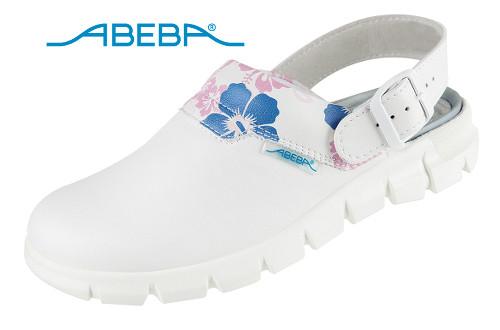 ABEBA Berufsschuh Clog weiß/gemustert Dynamic 7320