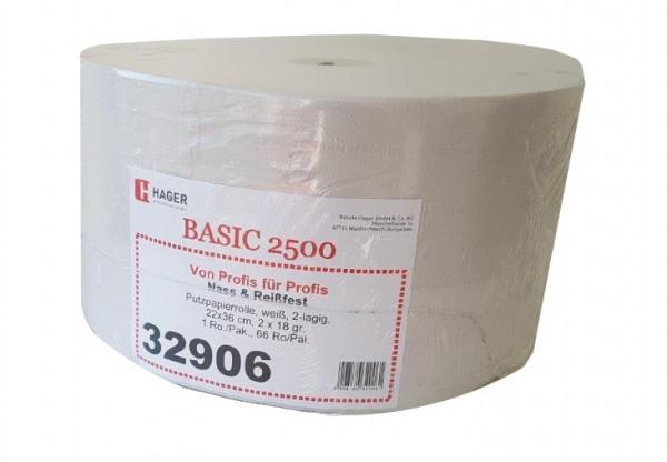 Putzpapierrolle Exklusiva weiß 3-lg., 1000 Blatt/Rolle 26,5 x 38 cm