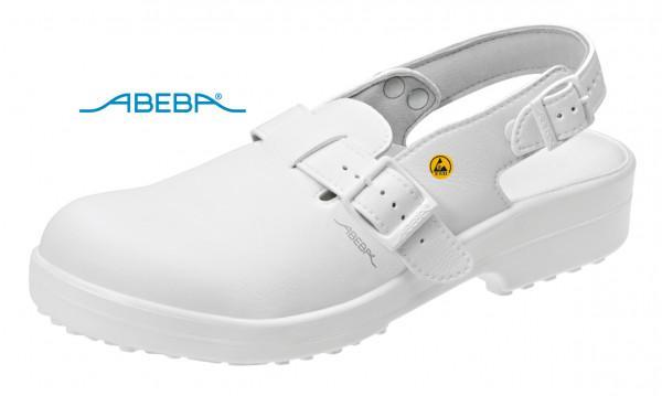 ABEBA Classic 1001 31001 ESD Sicherheitsschuh Clog Stahlkappe Küchenschuh Arbeitsschuh weiß