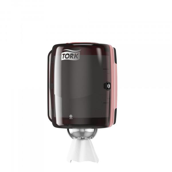 Tork (M2) Innenabrollungsspender für Papierwischtücher Handtuchrolle schwarz/rot - 659008