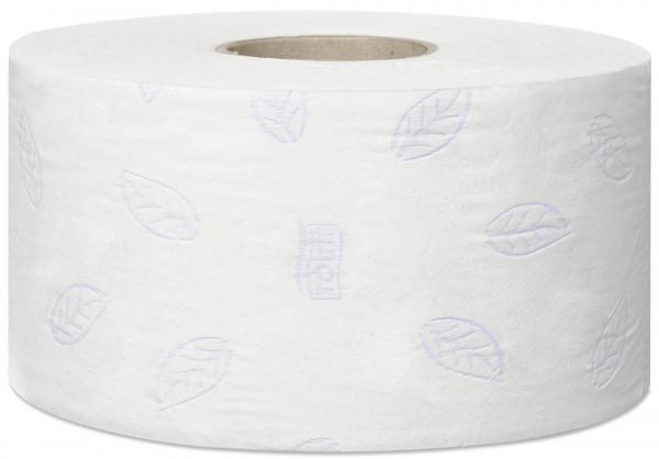 Tork (T2) Mini Jumbo Toilettenpapier 12 Rollen 3-lg weiß 120m - 110255