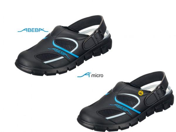ABEBA Dynamic 7341 | 37341 ESD Berufsschuh Clog schwarz/blau